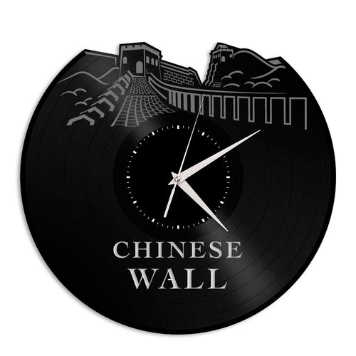 Chinese Wall Vinyl Wall Clock