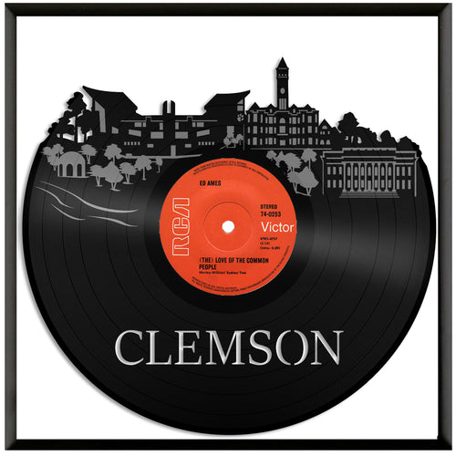 Clemson Skyline Vinyl Wall Art