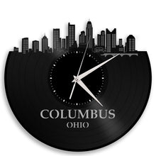 Columbus Skyline Vinyl Wall Clock - VinylShop.US