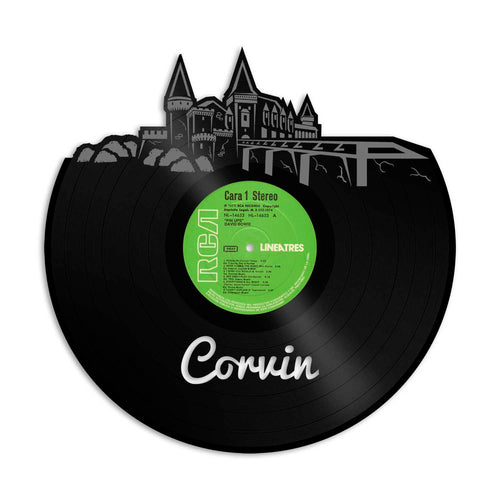 Corvin Castle Skyline Vinyl Wall Art