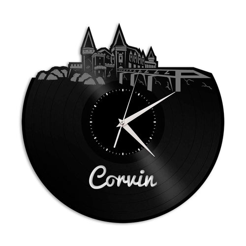 Corvin Castle Vinyl Wall Clock