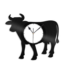 Cow Vinyl Wall Clock