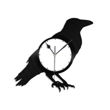 Crow Vinyl Wall Clock
