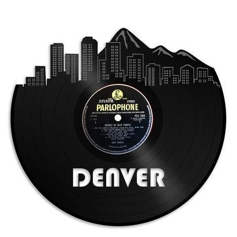 Denver Skyline Vinyl Wall Art - VinylShop.US