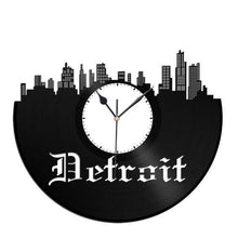 Detroit Skyline Vinyl Wall Clock - VinylShop.US