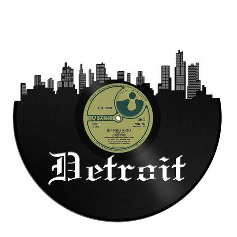 Detroit Skyline Vinyl Wall Art - VinylShop.US