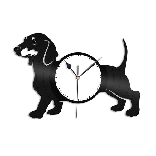 Dachshund Dog Vinyl Wall Clock - VinylShop.US