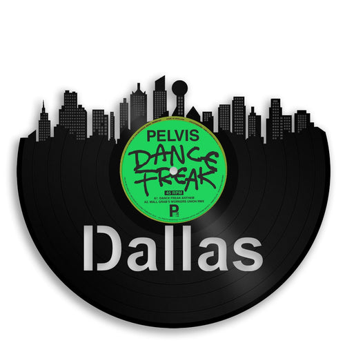 Dallas Skyline Vinyl Wall Art - VinylShop.US