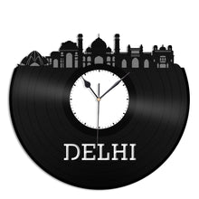 Delhi Skyline Vinyl Wall Clock - VinylShop.US