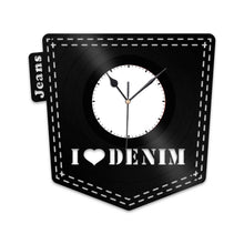 Denim Love Vinyl Wall Clock