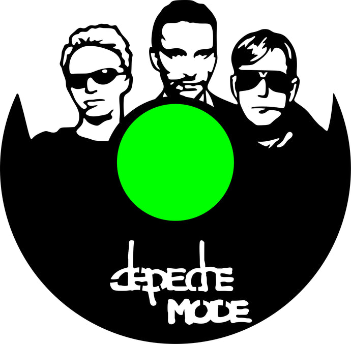 Depeche mode CLOCK BL / WH