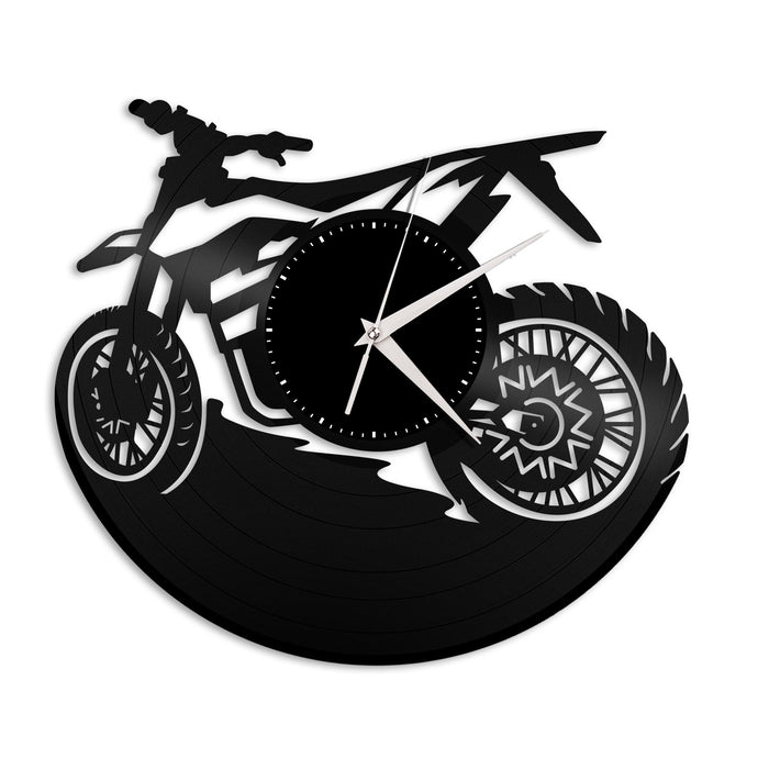 Dirt Bike Vinyl Wall Clock