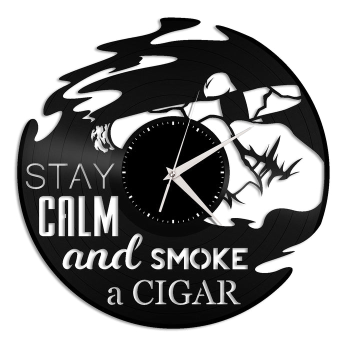 Cigar Vinyl Wall Clock - VinylShop.US