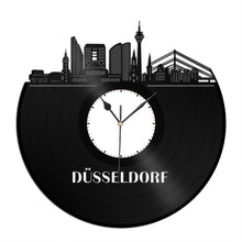 Düsseldorf skyline German skyline Vinyl Wall Clock - VinylShop.US