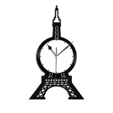 Eiffel Tower Vinyl Wall Clock