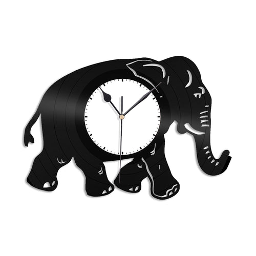 Elephant Vinyl Wall Clock - VinylShop.US