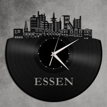 Essen Skyline Vinyl Wall Clock - VinylShop.US