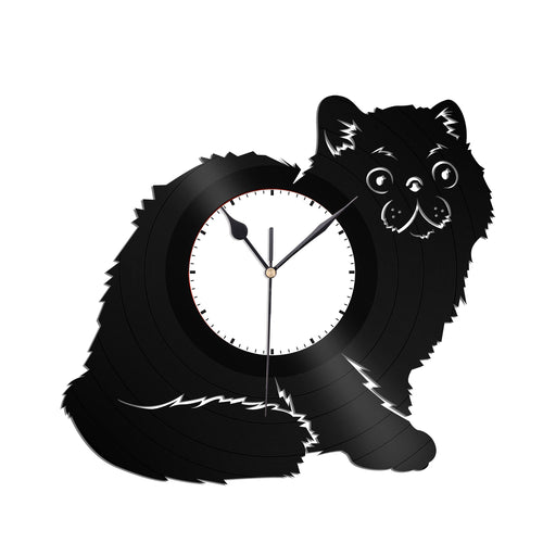 Exotic Shorthair Cat Vinyl Wall Clock