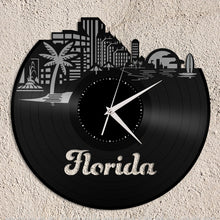 Florida skyline Vinyl Wall Clock - VinylShop.US