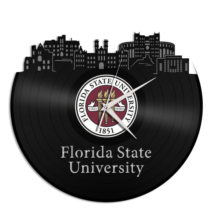 Florida State University Skyline Vinyl Wall Clock - VinylShop.US