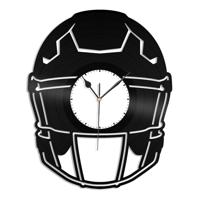 Football Helmet Vinyl Wall Clock