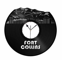 Fort Collins Vinyl Wall Clock
