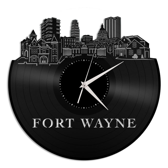 Fort Wayne Vinyl Wall Clock - VinylShop.US