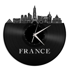 France Skyline Vinyl Wall Clock