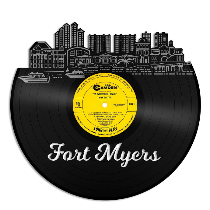 Fort Myers Florida Vinyl Wall Art - VinylShop.US