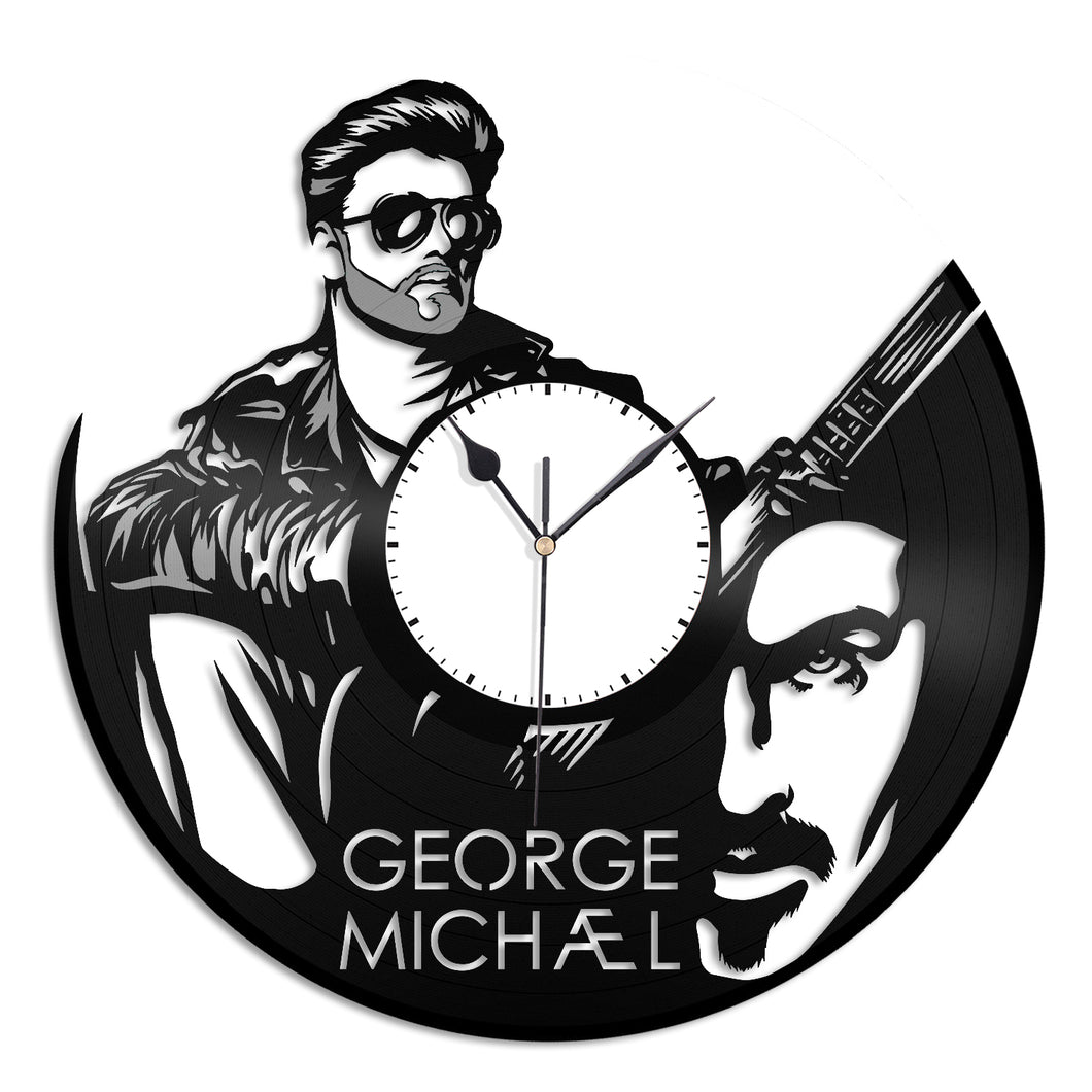 George Michael Vinyl Wall Clock - VinylShop.US