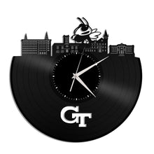 Georgia Tech Skyline Vinyl Wall Clock - VinylShop.US