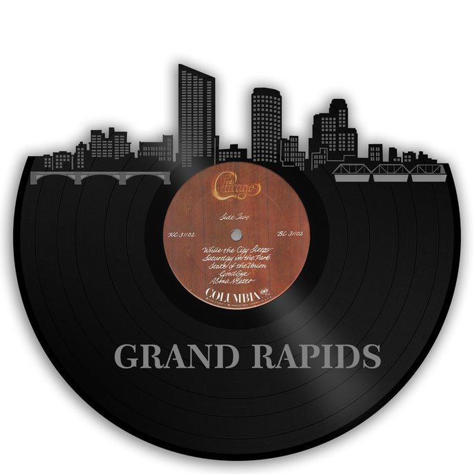 Grand Rapids Skyline Vinyl Wall Art - VinylShop.US