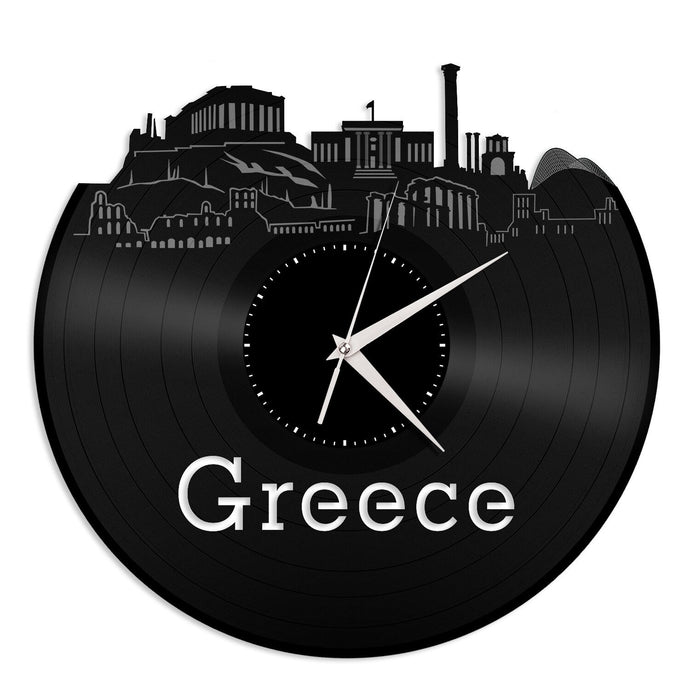 Greece Skyline Vinyl Wall Clock - VinylShop.US