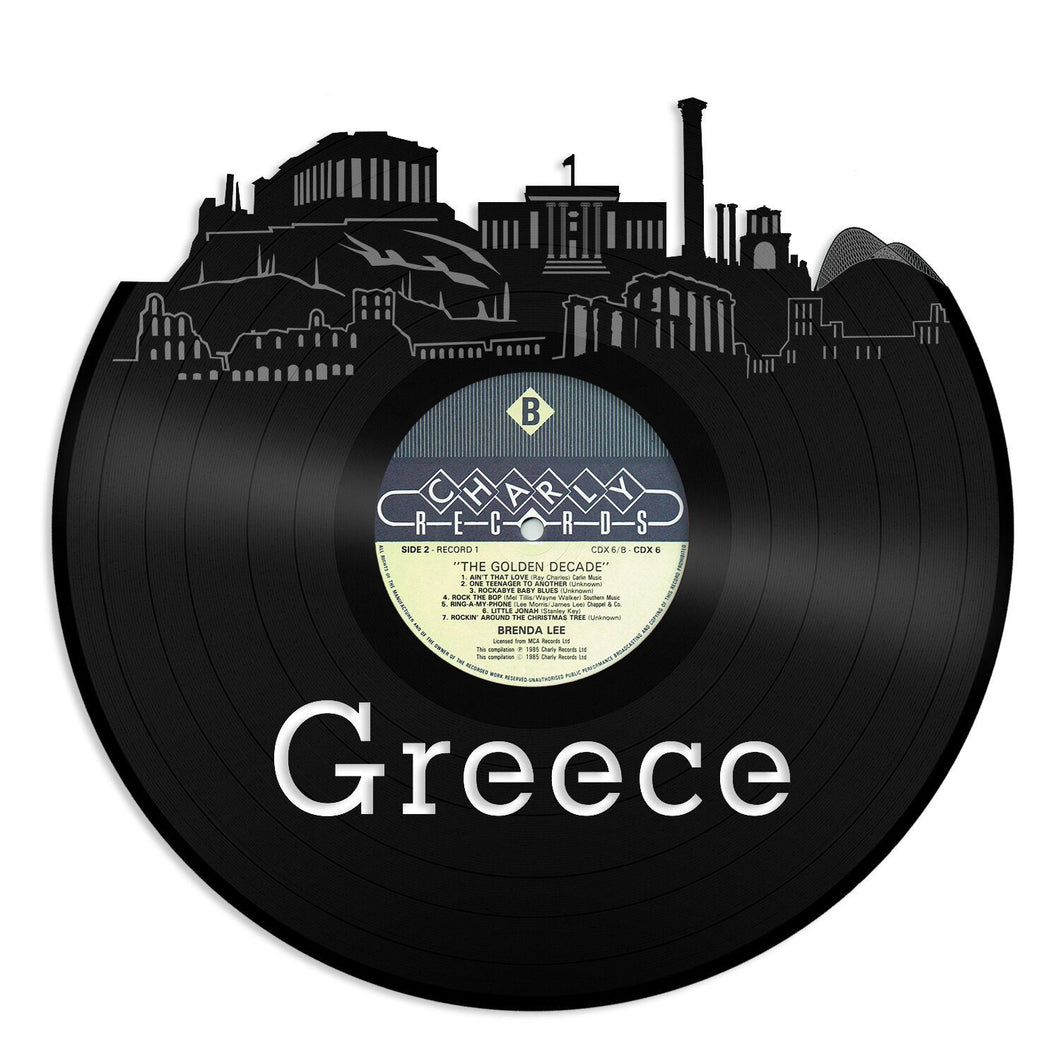 Greece Skyline Vinyl Wall Art - VinylShop.US