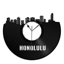 Honolulu Skyline Vinyl Wall Clock - VinylShop.US