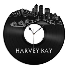Harvey Bay Vinyl Wall Clock