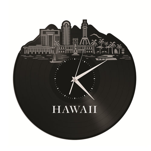 Hawaii Vinyl Wall Clock