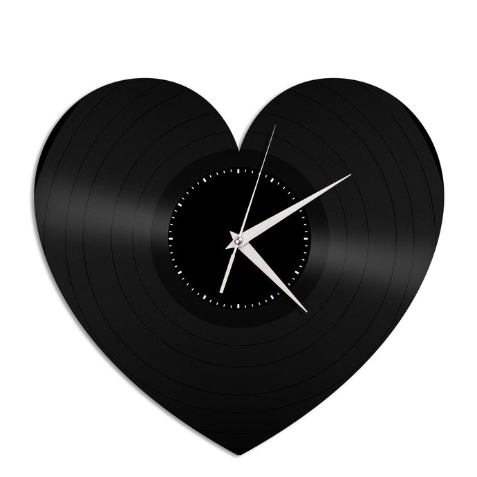 Heart Shape for Valentines Day Vinyl Wall Clock