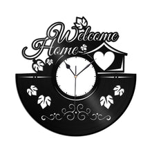 Housewarming Decor Vinyl Wall Clock