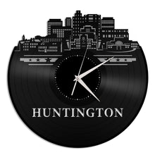 Huntington, Virginia skyline Vinyl Wall Clock - VinylShop.US