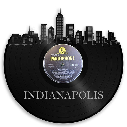 Unique Vinyl Wall Clock Indianapolis