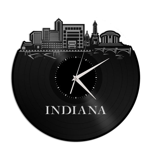 Indiana Vinyl Wall Clock