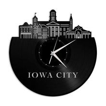 Iowa City Vinyl Wall Clock
