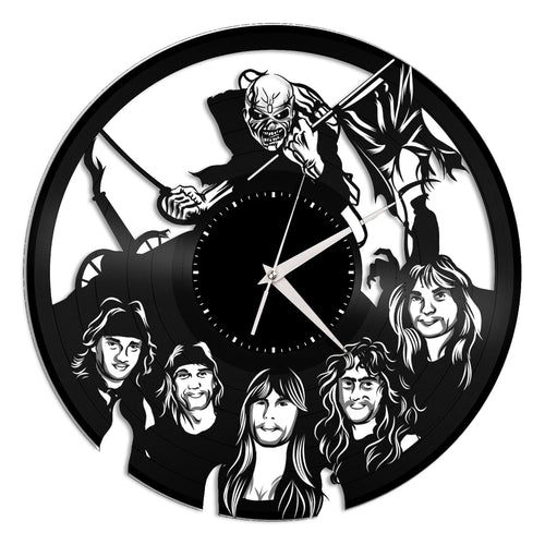 Iron Maiden Vinyl Wall Clock - VinylShop.US