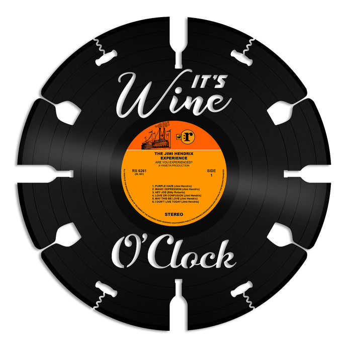 Its Wine O'clock Vinyl Wall Art
