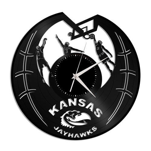 Jayhawks Kansas Team Vinyl Wall Clock - VinylShop.US