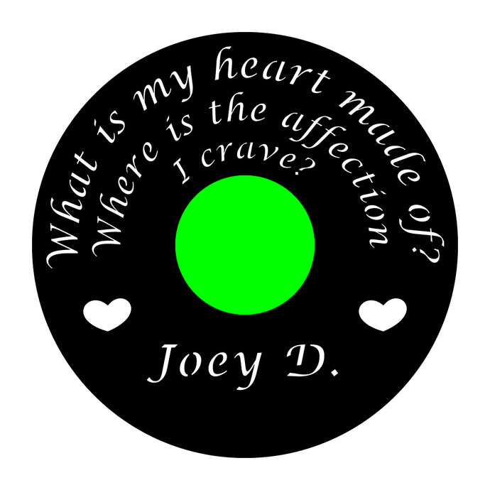 Joey D Custom Art Framed, Random Record
