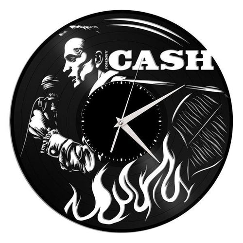 Johnny Cash Vinyl Wall Clock