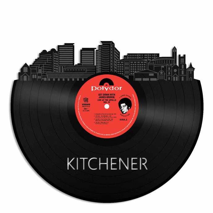 Kitchener, Canada skyline Vinyl Wall Art - VinylShop.US