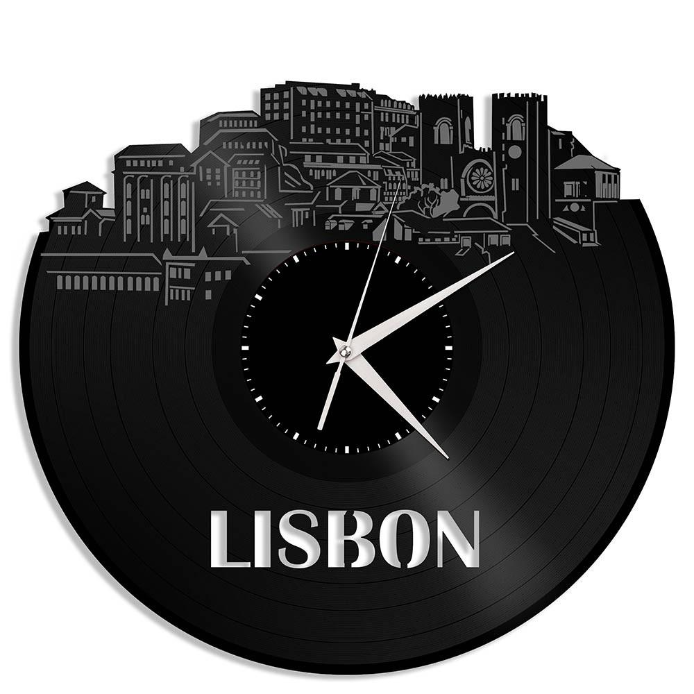 Unique Vinyl Wall Clock Lisbon